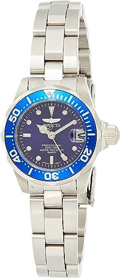 Invicta Women's Pro Diver 24.5mm Stainless Steel Quartz Watch, Silver (Model: 9177)