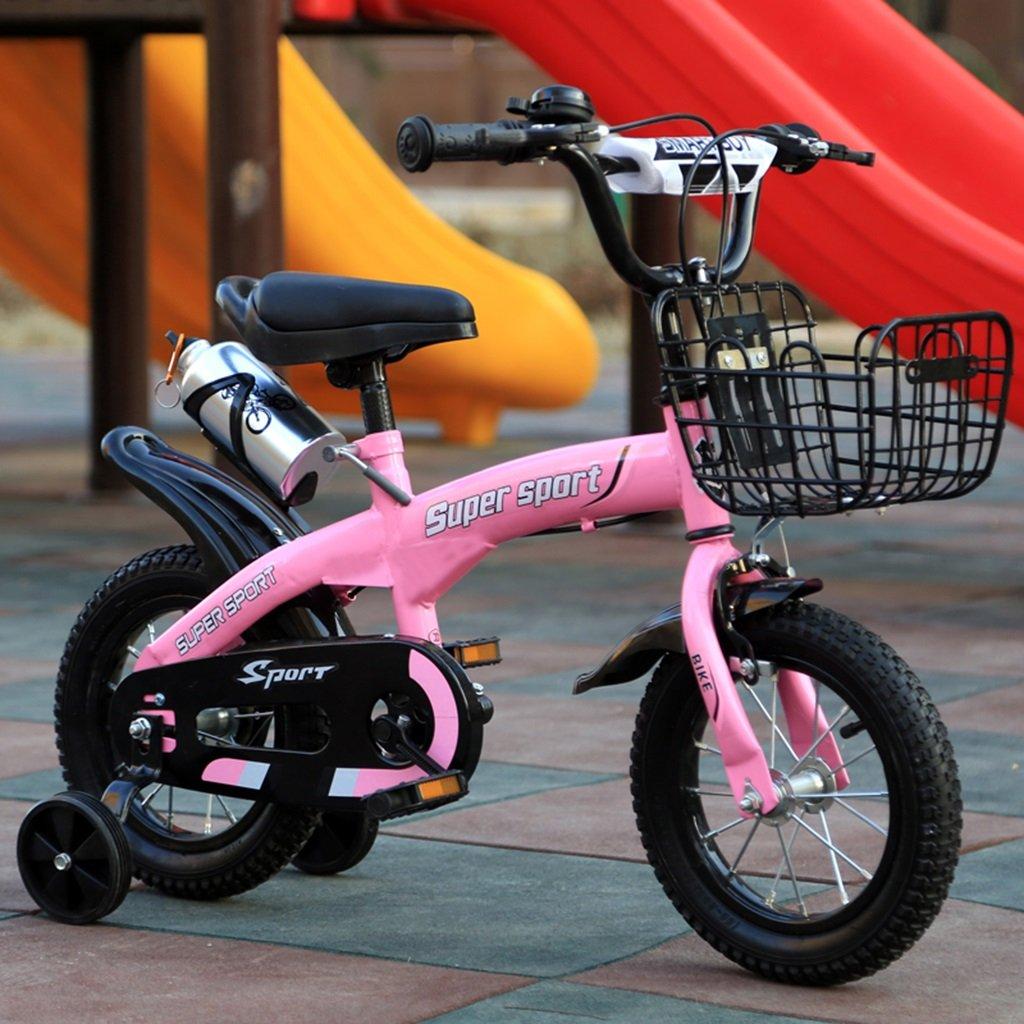 子供用自転車、ピンクオプションのフラッシュアシストホイールリアシートケトル高炭素スチールボディ丈夫で安全な子供用に設計された2-10 88-121CM (色 : B, サイズ さいず : 121CM) B07D5YFMCB 121CM|B B 121CM
