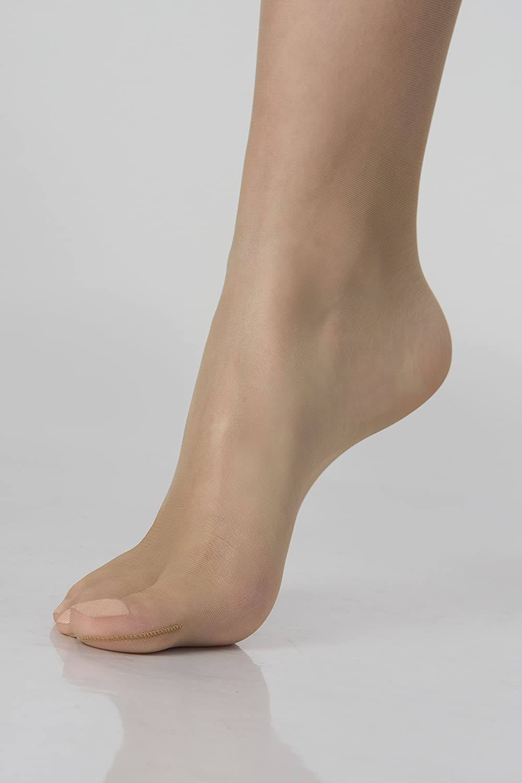 morbida come una seconda pelle WOOTI Collant MARINARA 8 DEN calza velatissima punta invisibile per sandali