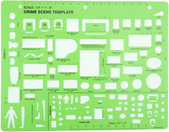 Amazon Com Crime Scene Drawing Template Arts Crafts Sewing