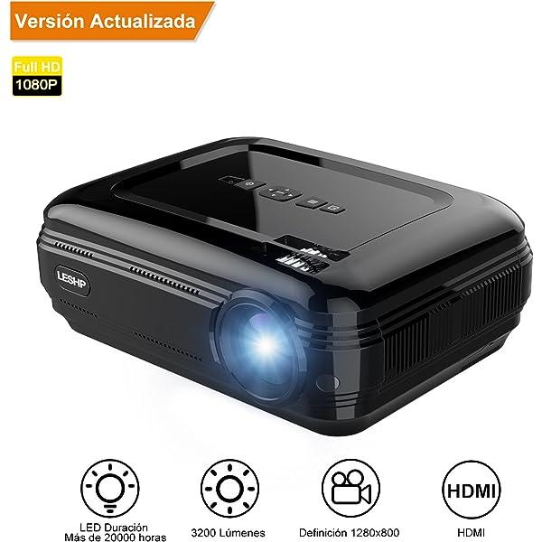 Proyector,【Versión Actualizada】Proyectores Full HD LED ...