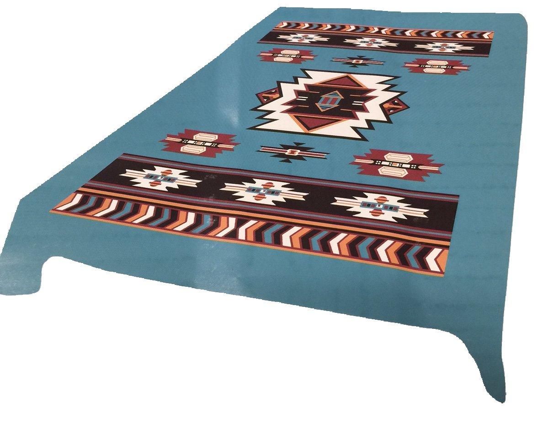 ブランド新しい。5ポンド。Southwest Native Americanソフトクイーン韓国スタイルミンク毛布(ブラック) クイーン ブルー B011A880HK ターコイズ
