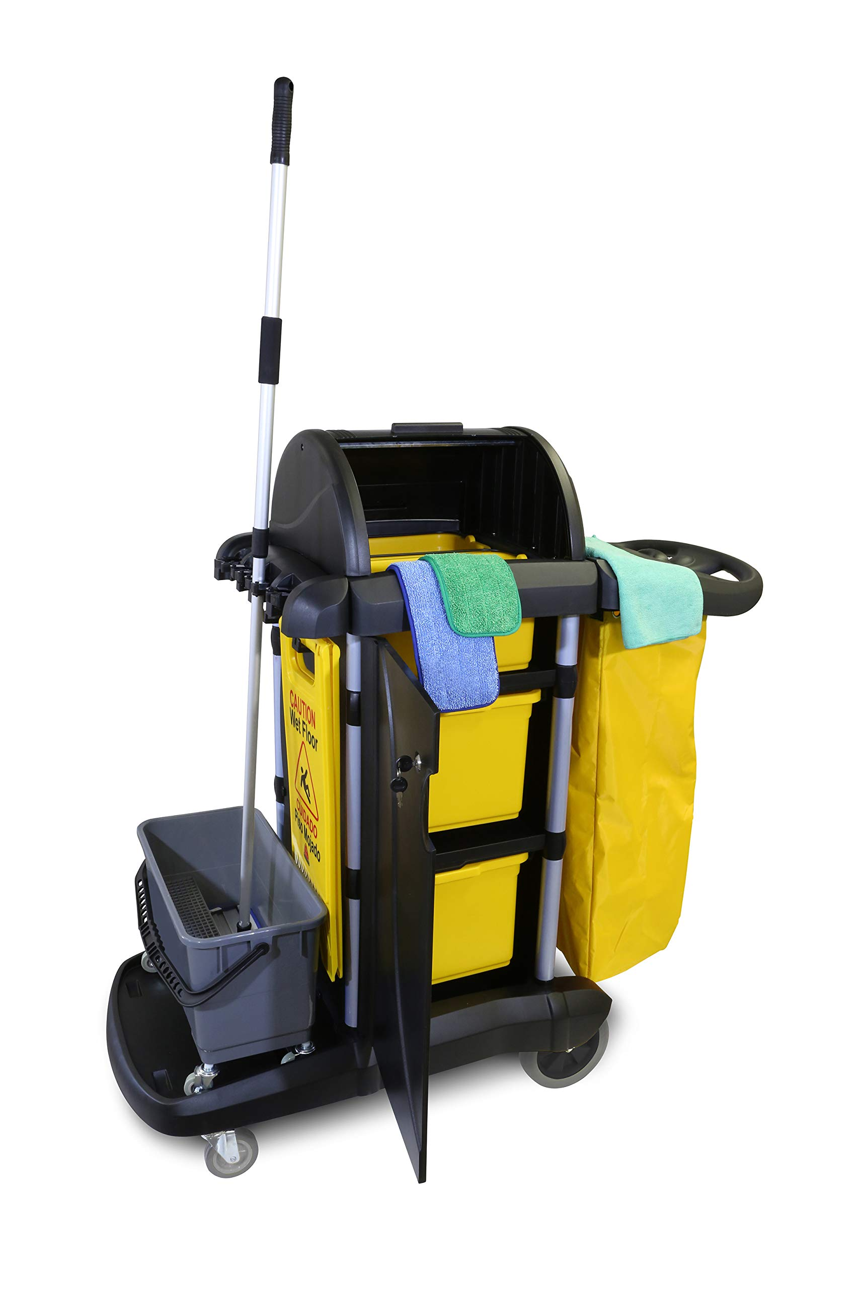 O'Cedar Commercial 96997 MaxiPlus Deluxe Janitor Cart (Pack of 1) by O-Cedar Commercial (Image #2)