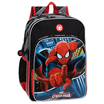 Marvel 24524A1 Spiderman Mochila Escolar, 15.6 Litros, Color Azul: Amazon.es: Equipaje