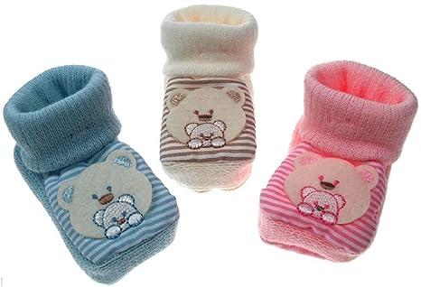 Bebé recién nacido patucos Teddy, diseño de botitas crema y rosa o ...