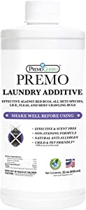 Premo Guard Bed Bug & Mite Killer Laundry Detergent Additive 32 oz – Child & Pet Friendly – Stain & Odor Free – Best Natural Treatment – Industry Approved – Satisfaction Guarantee
