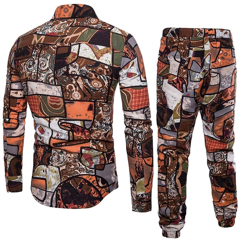 Mounter Camisa Casual - Escotado Por Detrás - Animal Print - con Botones - Manga Corta - Para Hombre chxjW