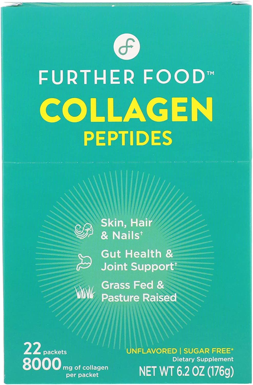 Further Food Collagen Peptides, Unflavored, 22 Packs, 0.28 oz (8 g) Each