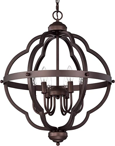 ACLand Orb 6-Light Farmhouse Chandelier Rustic Metal Pendant Light Fixture Industrial Ceiling Hanging Lighting