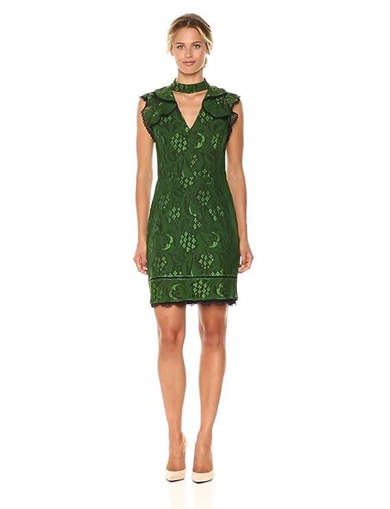 af8490f0c5906 Amazon.com  Adelyn Rae Women s Delilah Woven Lace Sheath Dress W Ruffle