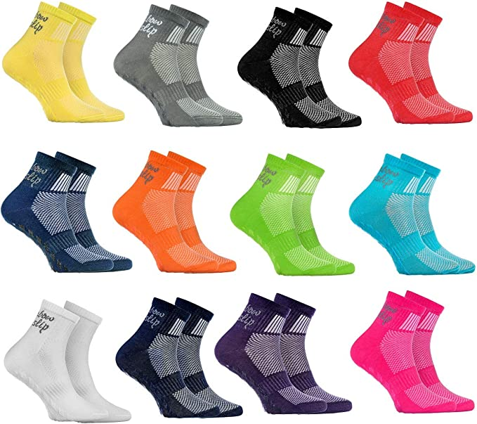 Rainbow Socks - Niño Niña Deporte Calcetines Antideslizantes ABS ...