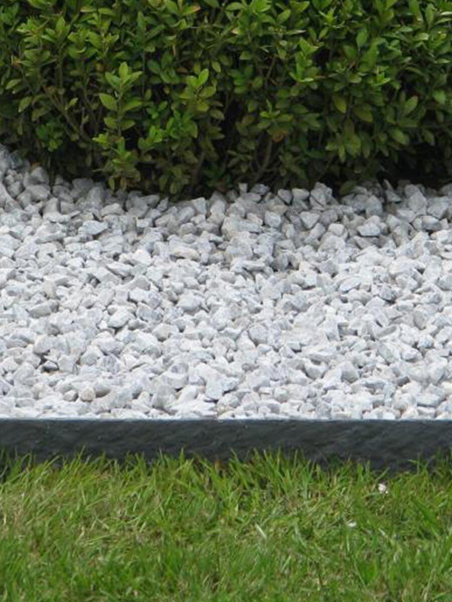 ecolat Césped borde recto, 2 m x 14 cm x 1 cm, en gris, Cercado plástico 100% reciclado: Amazon.es: Jardín
