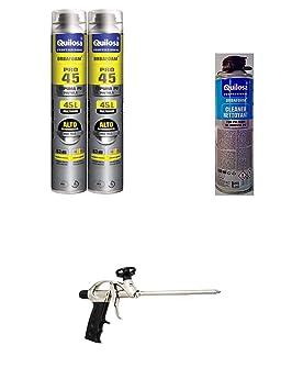 2 espumas expansives Poliuretano 750 ml para pistola + 1 ...