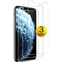 [3 Adet] Apple iPhone 11 Kırılmaz Cam Ekran Koruyucu Mobilestore Tamperli Cam Ekran Koruyucu [9H Sertlik] [Hava Kabarcığı Bırakmaz]