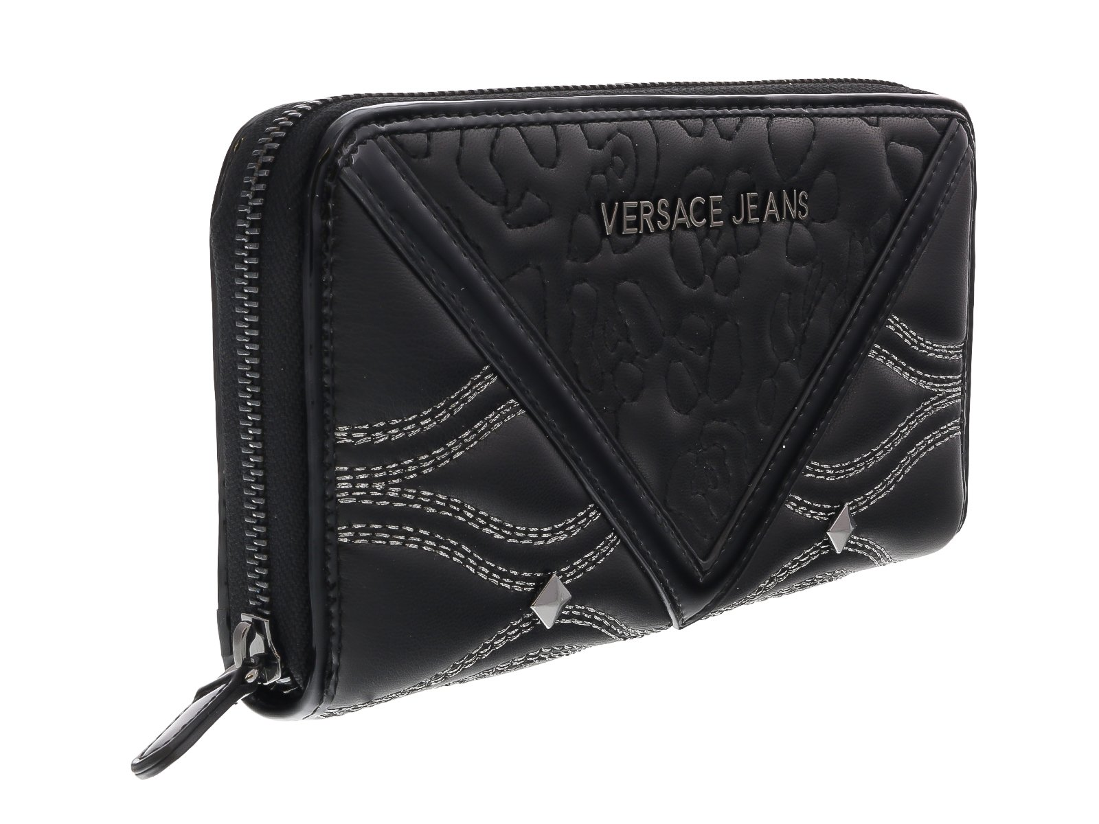 Versace EE3VOBPK2 E899 Black Multifunction Wallet for Womens by Versace