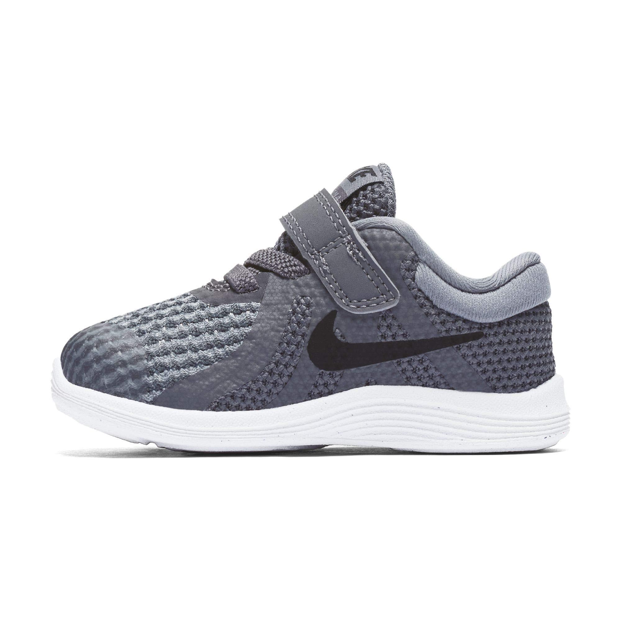 Nike Boys' Revolution 4 (TDV) Running Shoe, Dark Black-Cool Grey-White, 7C Regular US Toddler