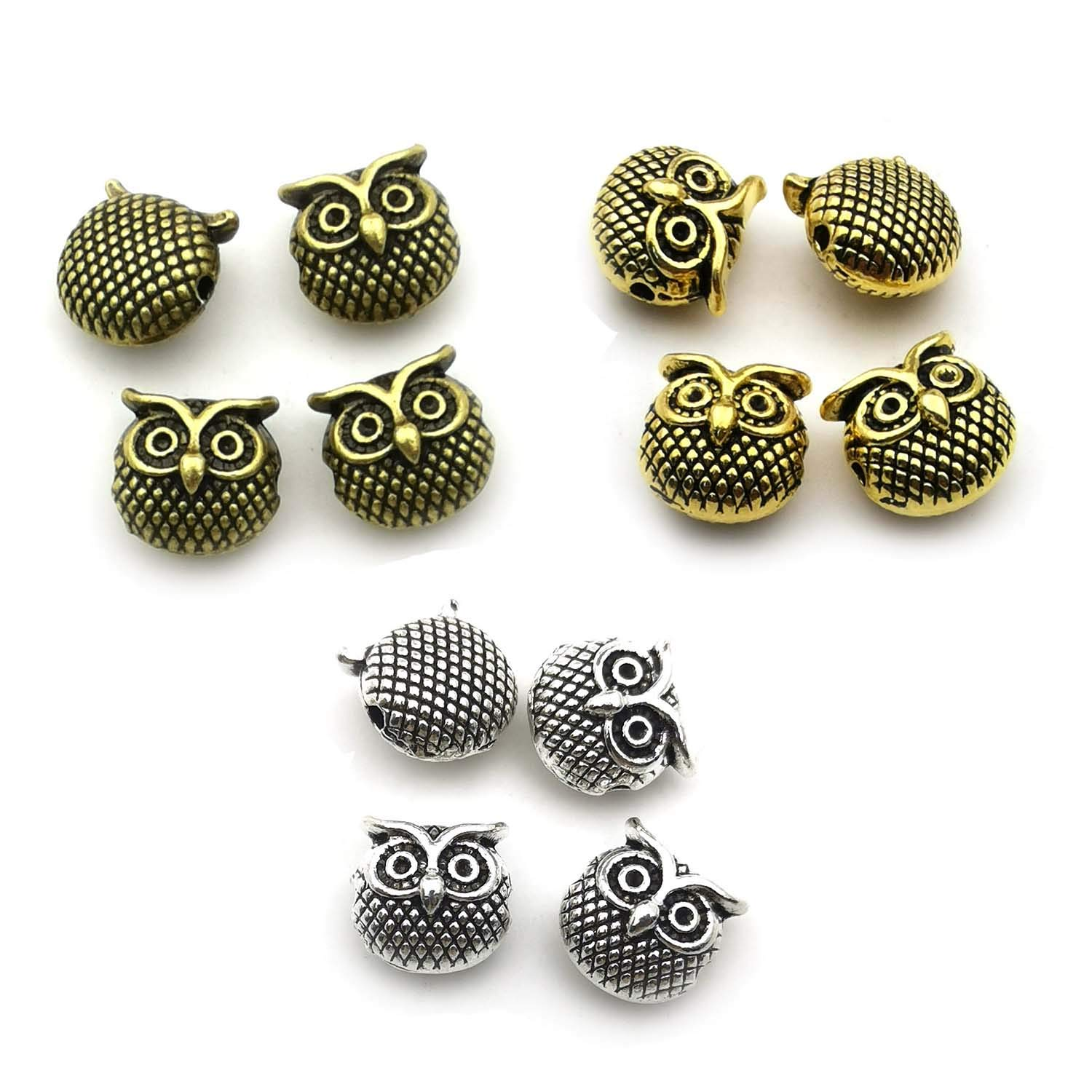 40Pcs//Set Mixed Vintage Owl Charms Alloy Pendants DIY Handmade Jewelry Findin X