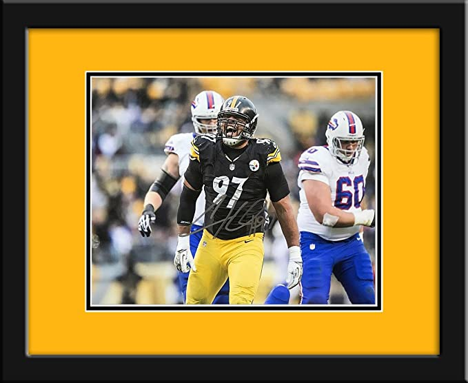 d9b0d0cac Cameron Heyward Autographed Pittsburgh Steelers 11x14 Photograph -  Certified Authentic with mat and frame at Amazon s Sports Collectibles Store