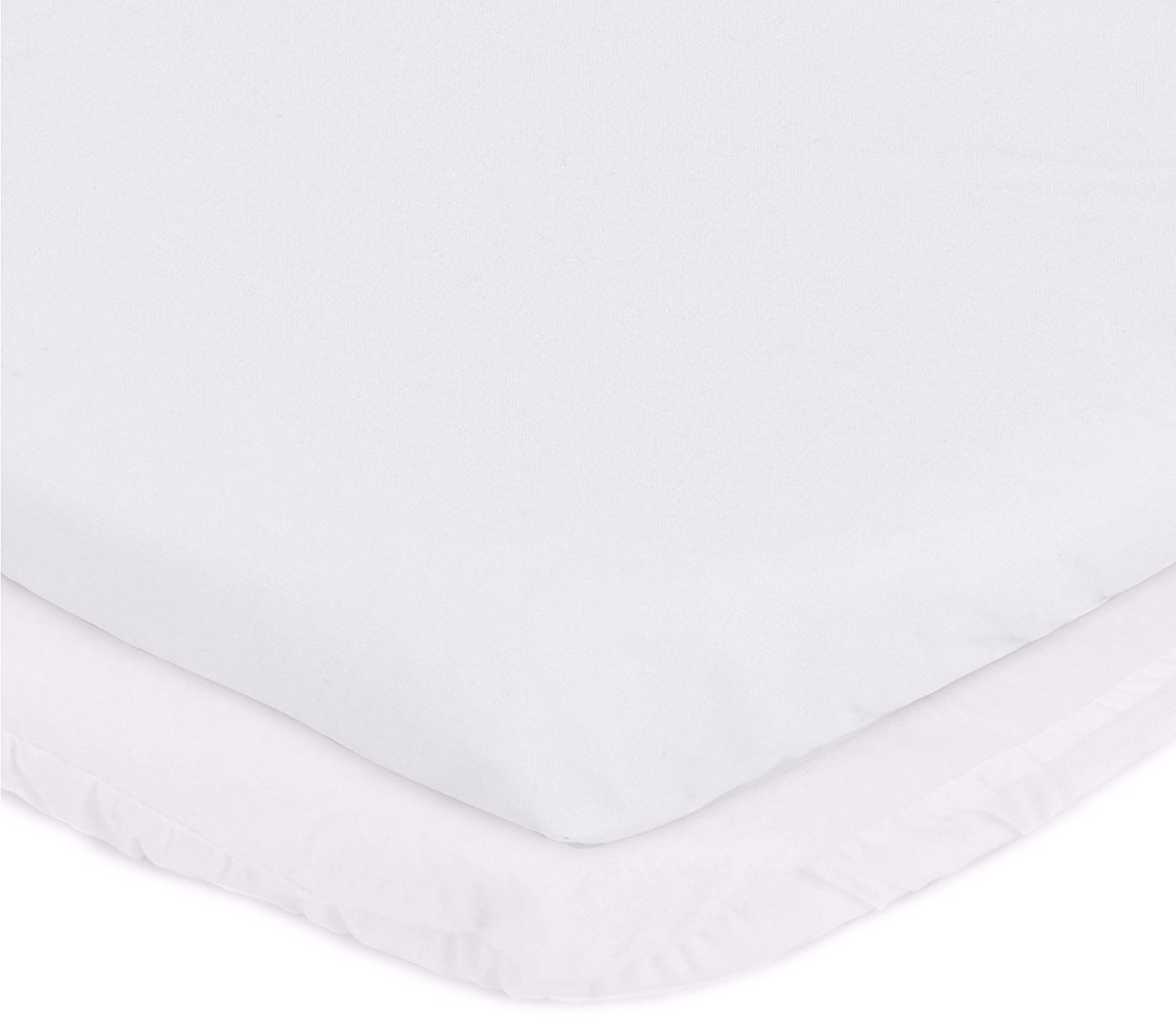 aBaby Cradle Mattress Protector and Sheet Combo, White, 15'' x 33''