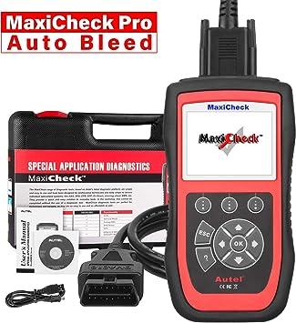 Autel MaxiCheck Pro OBD2 Diagnósticos Coche Escáner con ABS Sangrado de Frenos, Restablecimiento de Aceite, SRS, SAS, EPB, BMS, DPF para Vehículos Específicos: Amazon.es: Coche y moto