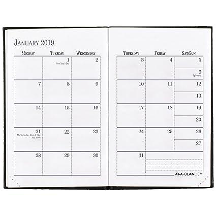 Amazon.com: AT-A-GLANCE 2019 Agenda semanal y mensual de ...