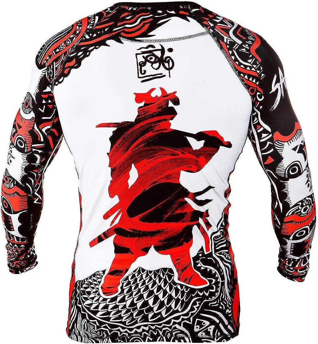 Training Samurai Running MMA Fightwear Compression Top Sportswear Rule Out Long Sleeve Rash Guard Top Cycling Gym