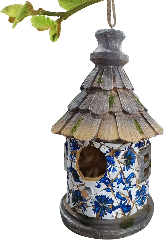 OUSHUAI Hanging Bird House for Outside 5.5