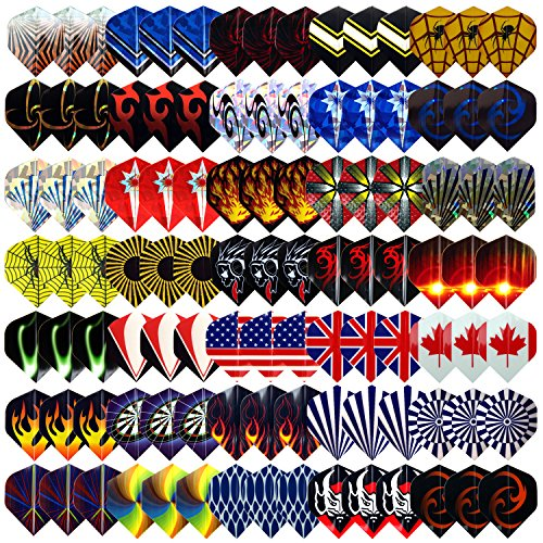 L E D Step 35 Sets  105 Pcs  Dart Flights Darts Accessory Feather Tail Wing Flight National Flag Cool Styles 2D And 3D Bling Long Life Laser Darts Flights