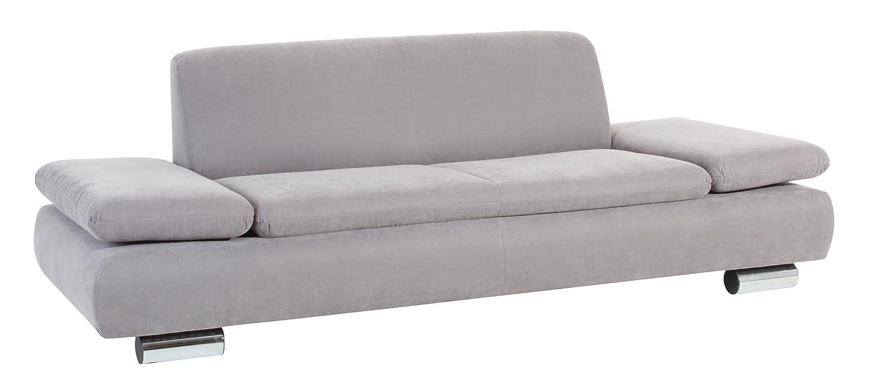 Max Winzer 287130002051716 Sofa Tournai 2.5-Sitzer samtiges Flachgewebe, grau