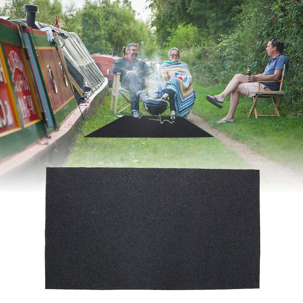 Estink Grill Mat Rug,Fireproof Heat Resistant BBQ Gas Grill Splatter Mat Backyard Outdoor Floor Protective Rug(48.81 x 29.53inch)
