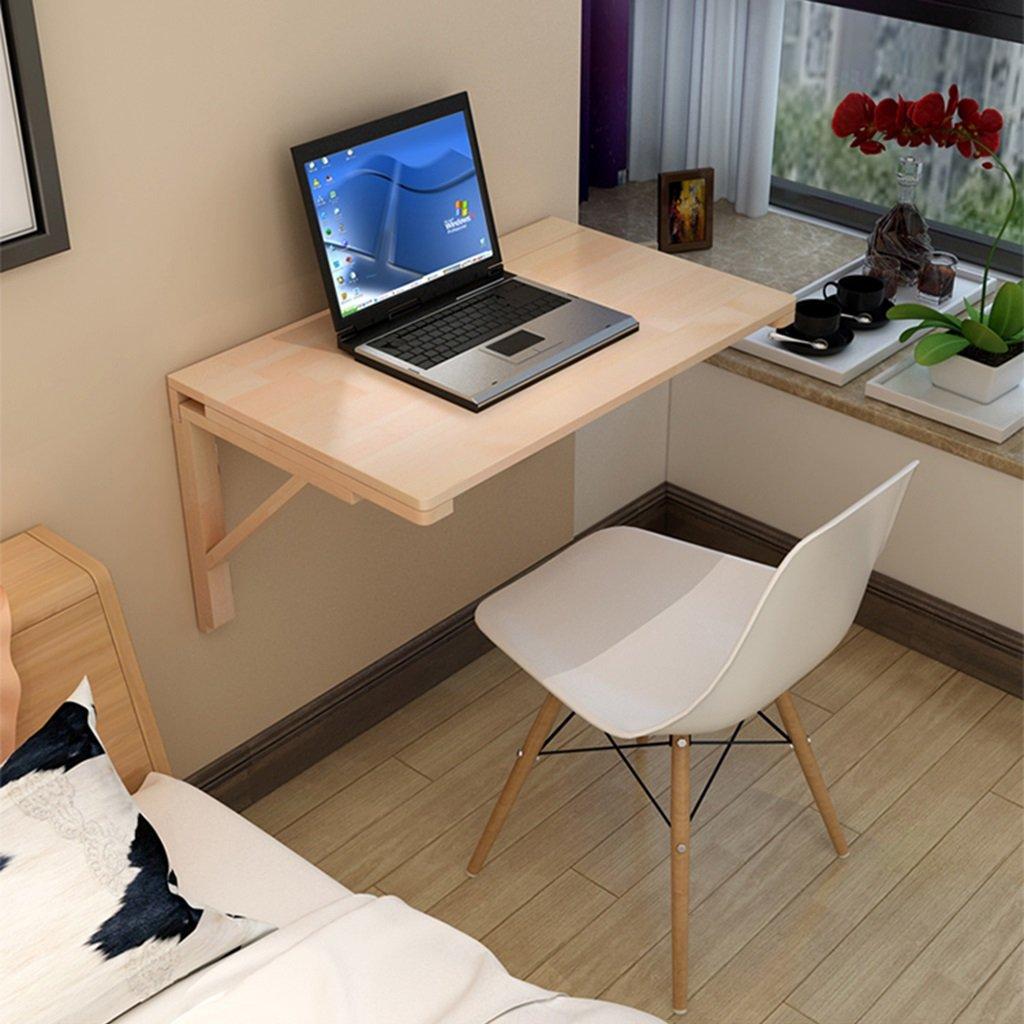 ソリッドウッド壁のテーブル壁の折り畳み式ダイニングテーブルコンピュータの机の学習テーブル 折畳式の (サイズ さいず : 120*60cm) B07DGW4TQ5 120*60cm 120*60cm