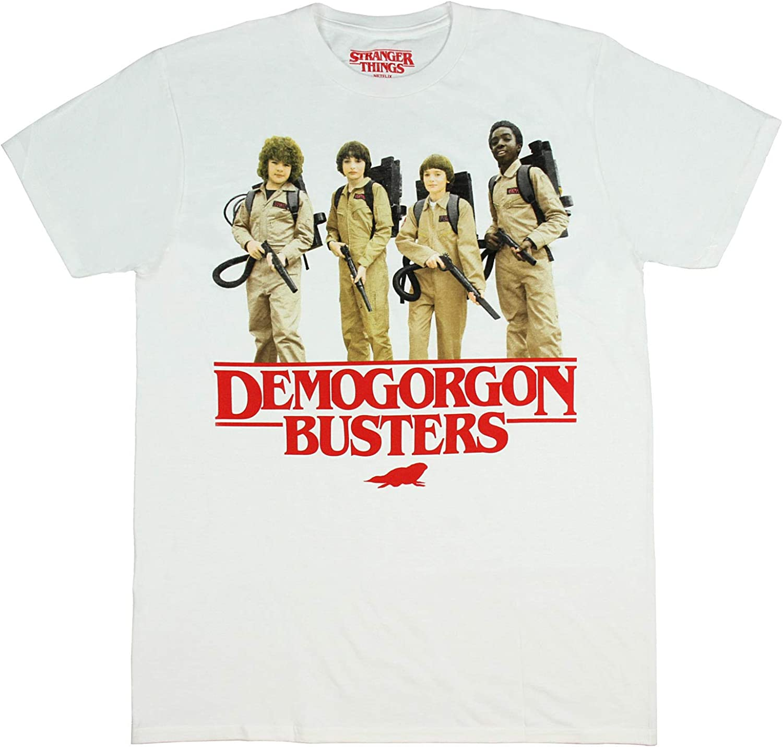 Hybrid Camisa para hombre Stranger Things – Demogorgon Busters Distressed Photo playera