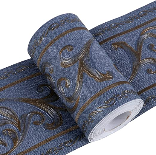 de para decoraci/ón de cocinas de Da Jia Inc retirable en rollo de 10 x 500 cm con dise/ño tridimensional Cenefa de papel pintado impermeable ba/ños y azulejos autoadhesiva