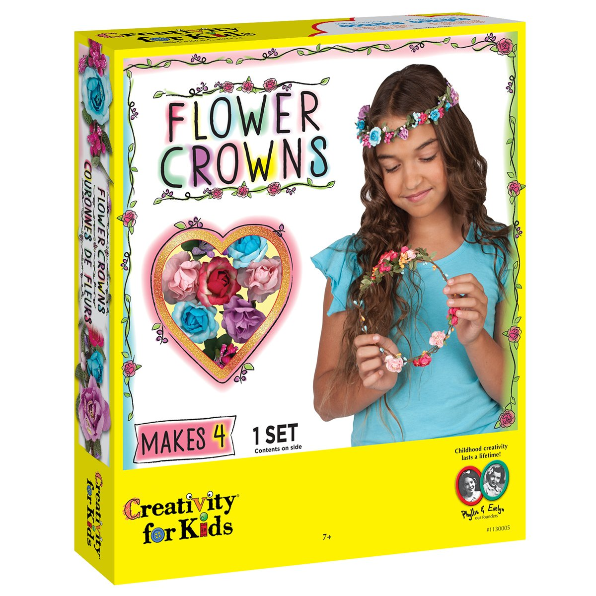 Amazon creativity for kids flower crowns hair accessory kit amazon creativity for kids flower crowns hair accessory kit for kids toys games izmirmasajfo Images