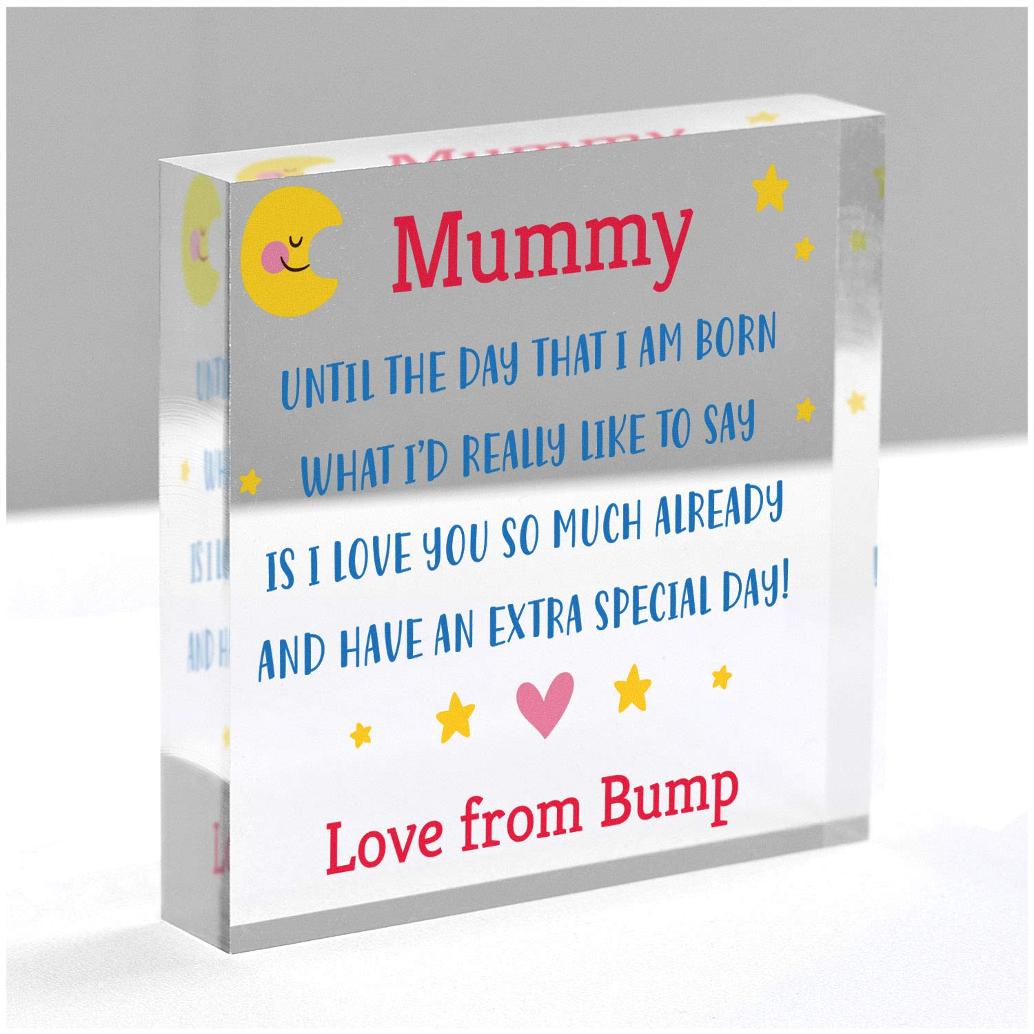Baby Shower Mummy I Love You Gifts From Bump Birthday Christmas Gifts From The Bump Mothers Day Gifts From Bump With Grey Bag First Time Mummy Daddy Gifts PERSONALISED Gifts From The Bump