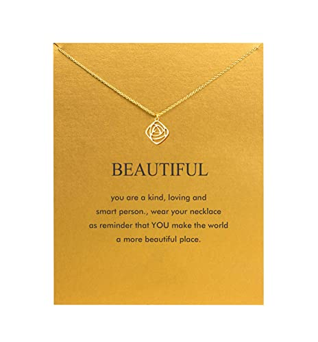 c2fa8c6ed079d0 Hundred River Friendship Anchor Compass Necklace Good Luck Elephant Pendant  Chain Necklace with Message Card Gift