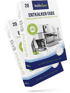 Descalcificador Cafetera Pastillas de descalcificación - 40x 16g Tabletas para máquina de café, Compatible con marcas Delonghi, Dolce Gusto, Nespresso, ...