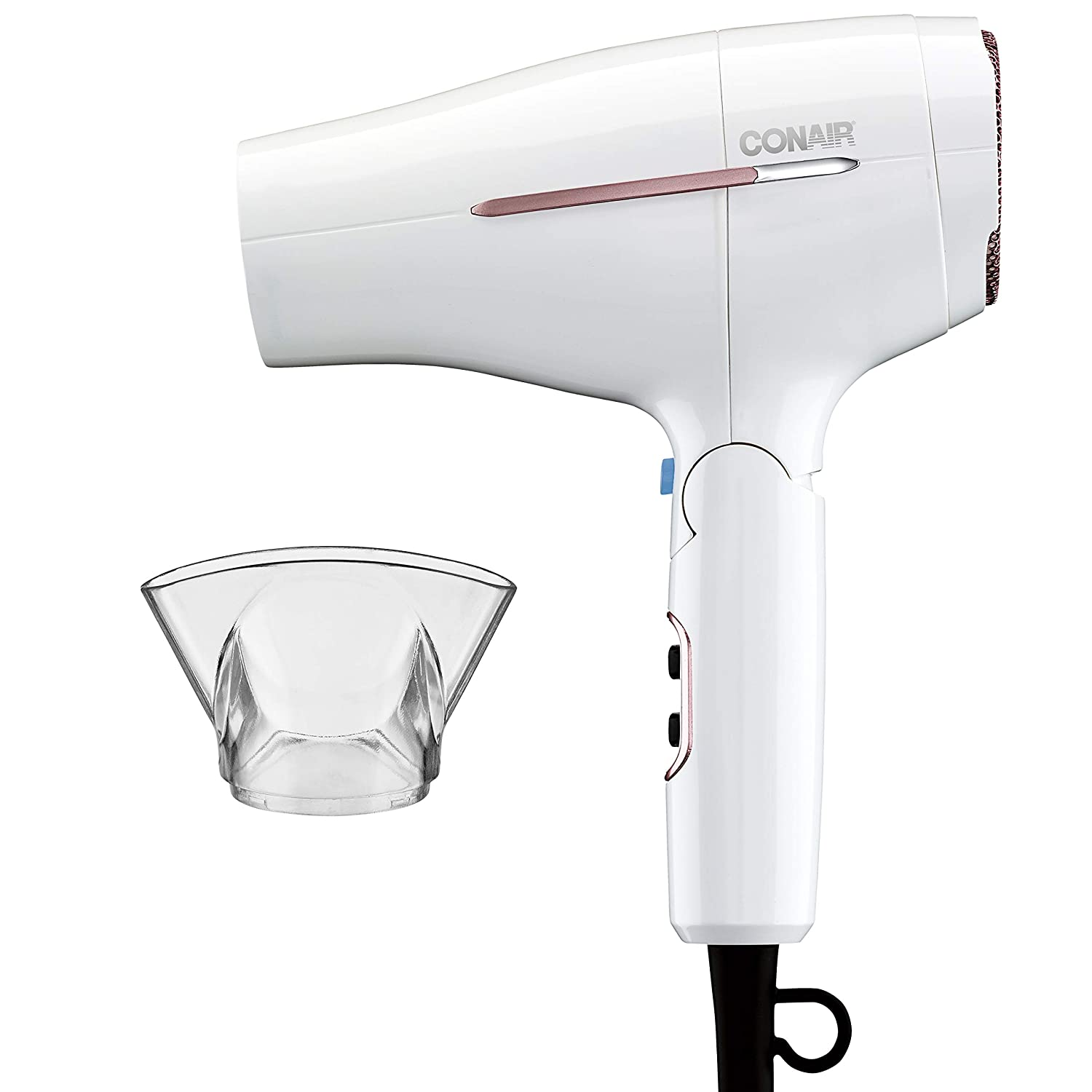 Conair 1875 Watt Worldwide Travel Hair Dryer with Smart Voltage Technology and Folding Handle