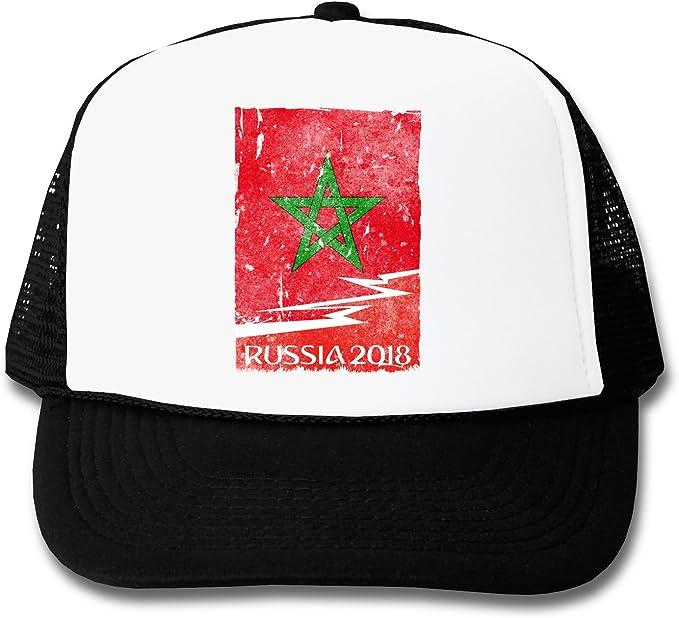 LukeTee Maroc Russia 2018 - Gorra Unisex Negro Talla única: Amazon ...