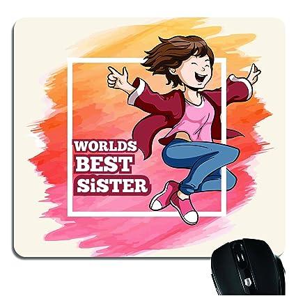 YaYa CafeTM Birthday Gift For Sister Mousepad Best Printed Rakhi