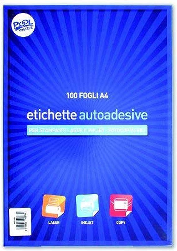100 Hojas adhesivas en formato A4, sin margen.: Amazon.es: Electrónica