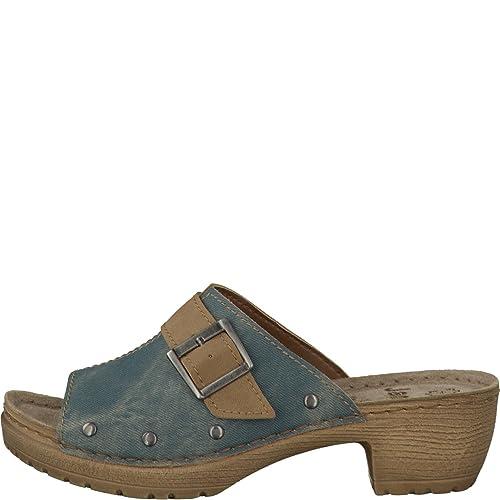 separation shoes b74f5 8e00d Women's Clogs Jana 8-27201-846 jeans blue width H leather ...
