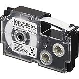 Casio XR-12VWE Iron-On Fabric Label Printer Tape (Black and White)