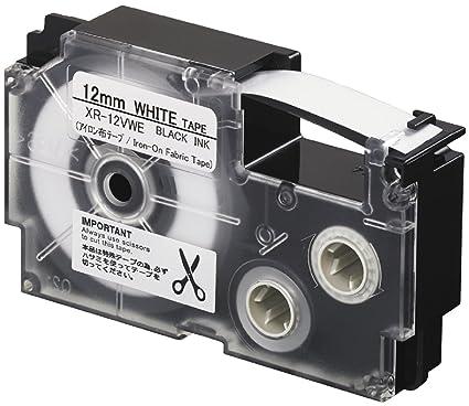 Casio XR-12VWE Negro sobre blanco cinta para impresora de ...