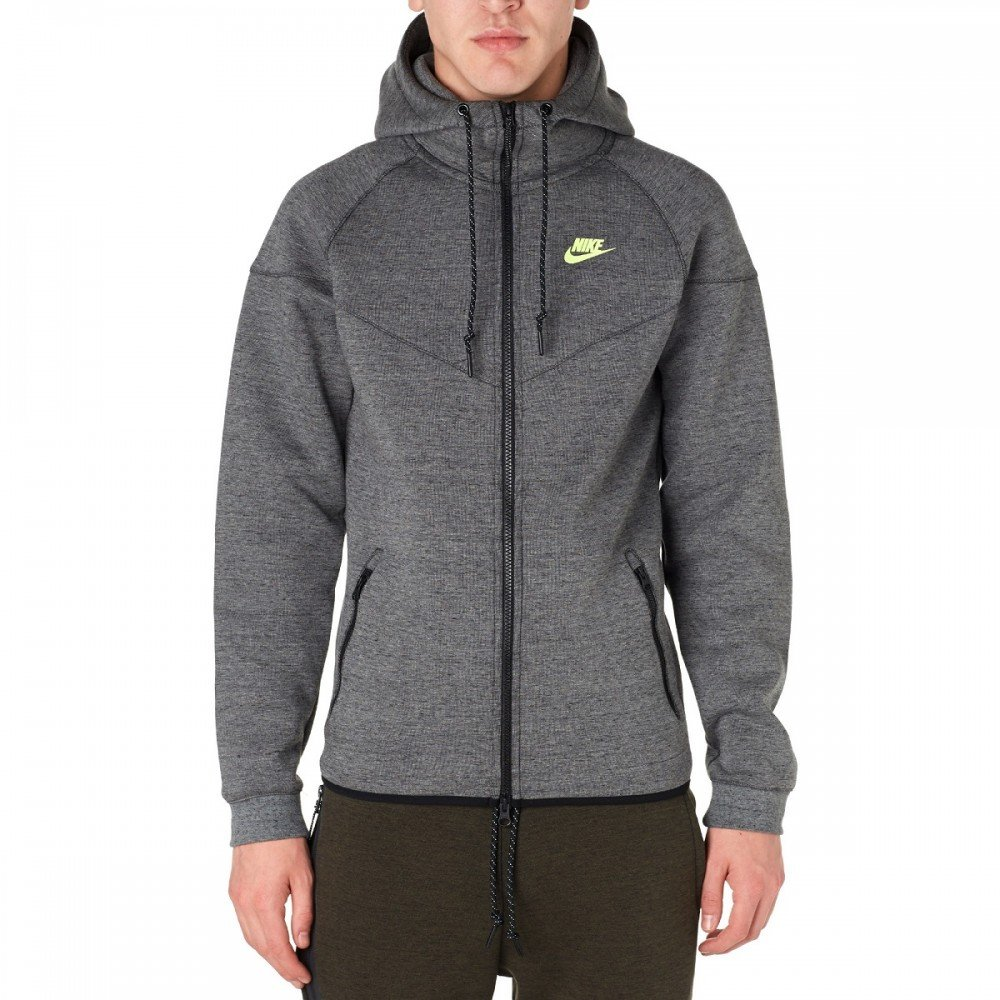 ff21f8ab Nike Mens NIKE TECH Fleece WINDRUNNER-1M 545277-037_L - Tumbled  Grey/Black/HTR/Volt: Amazon.ca: Clothing & Accessories