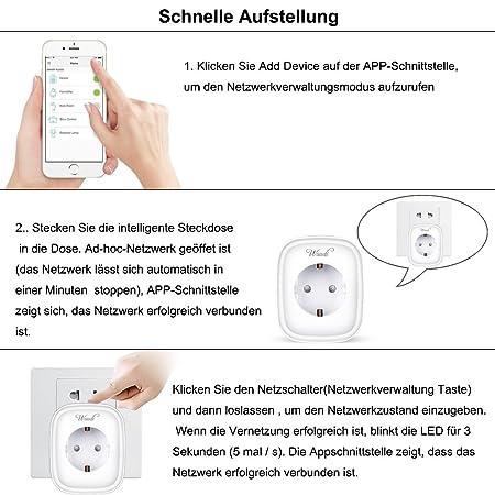 Intelligent Messen Steckdose ,Wuudi WLAN Smart Plug Steuerung ...