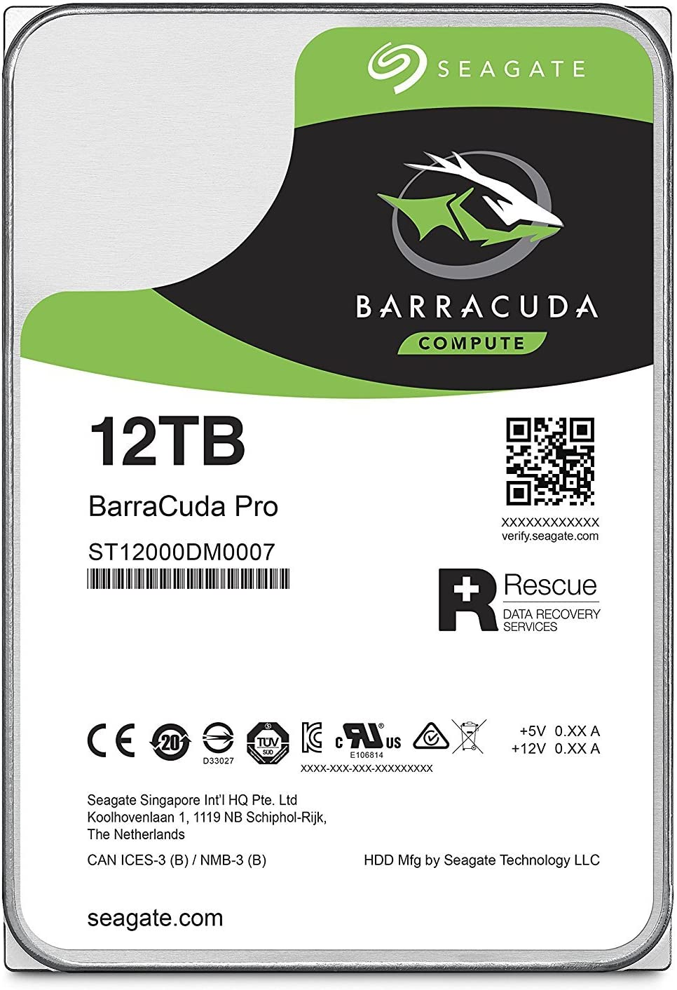 Seagate BarraCuda Pro 12TB Internal Hard Drive Performance HDD – 3.5 Inch SATA 6 Gb/s 7200 RPM 256MB Cache for Computer Desktop PC Laptop – Frustration Free Packaging (ST12000DM0007) (Renewed)