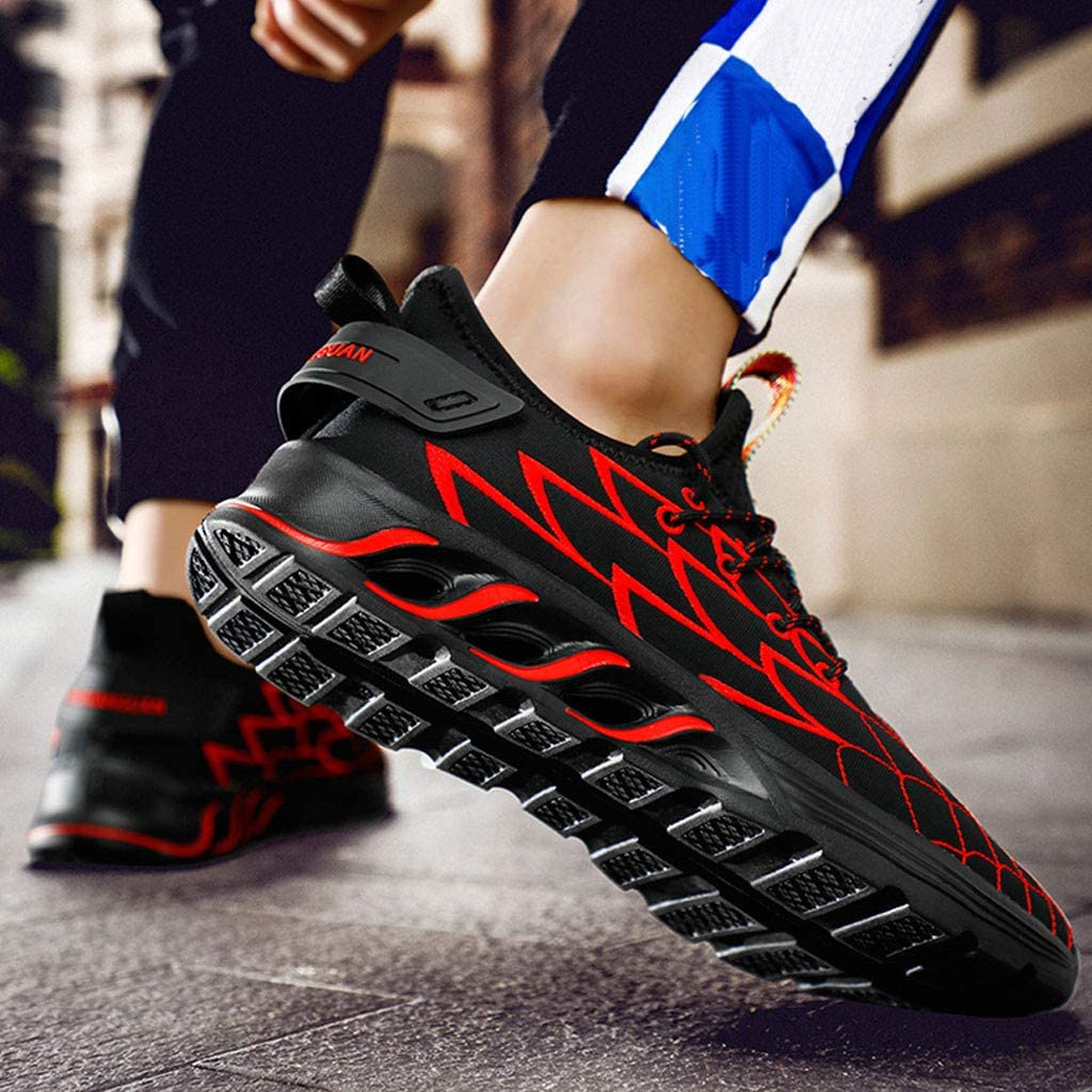 Mens Shoes F/_Gotal Mesh Running Shoes Lace Up Cushioning Ultra Light Breathable Sneaker Casual Walking Footwear