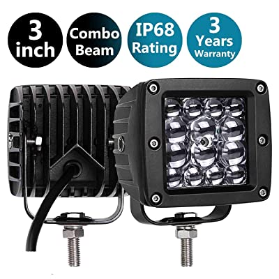 Moso LED LED Pods, 3 Inch 84W LED Fog Light LED Driving Light Spot Light Waterpoof Work Light Off Road Lights for Truck Jeep Pick up SUV ATV UTV Motorcycle Boat Marine: Automotive