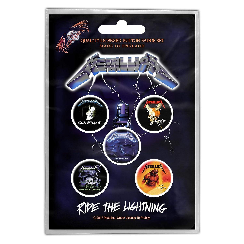 5x Buttons Blue Button Set RZ Metallica